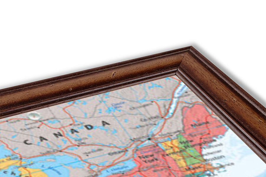 Plakát Politická mapa USA