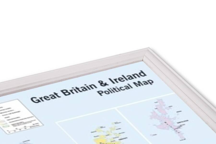 Plakát Mapa Velké Británie a Irska - politická