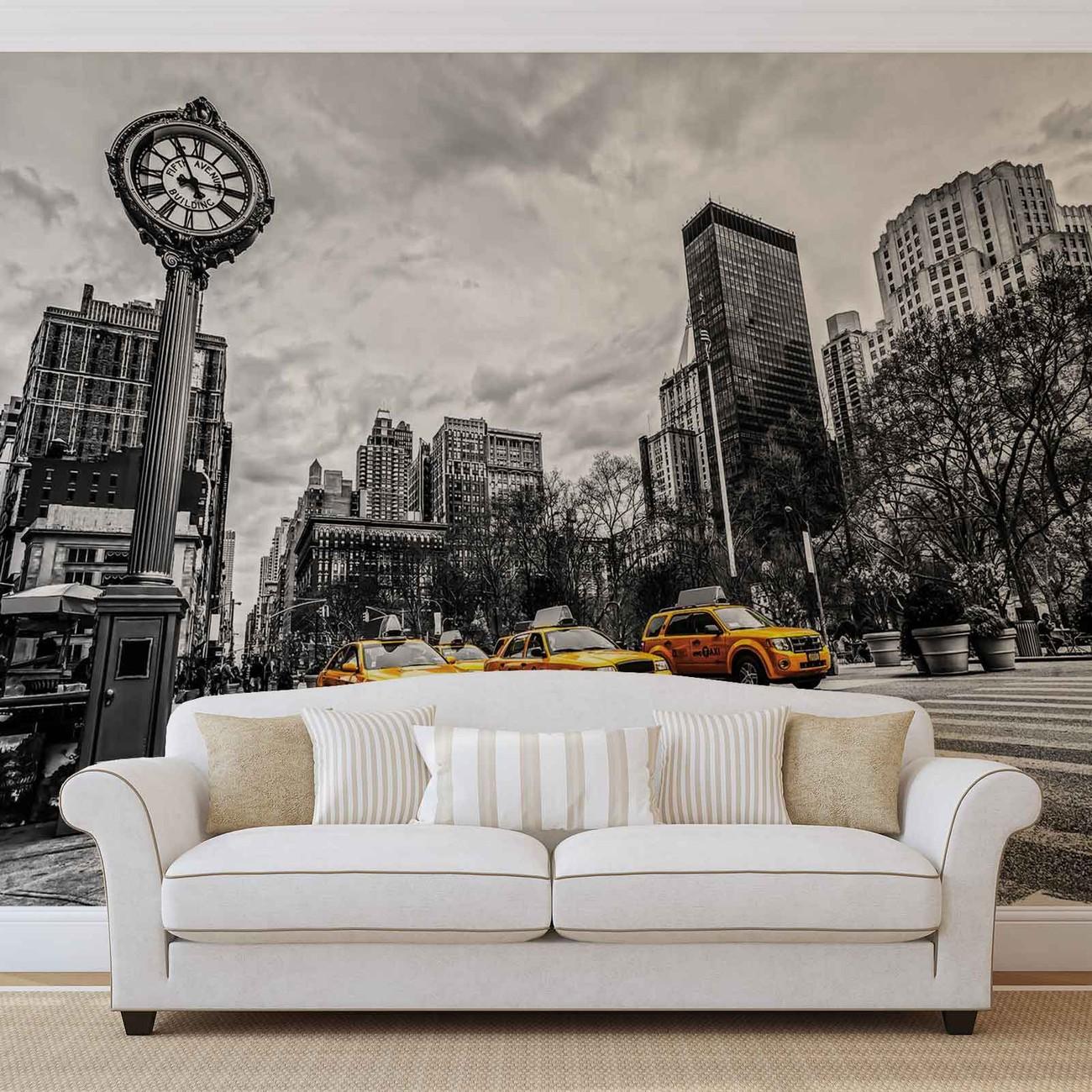 Fotomurale nueva york cabs mural de papel pintado - Papel pintado nueva york ...