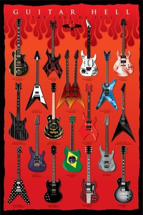 Posters Plakát, Obraz - Guitar hell - the axesod evil, (61 x 91,5 cm)
