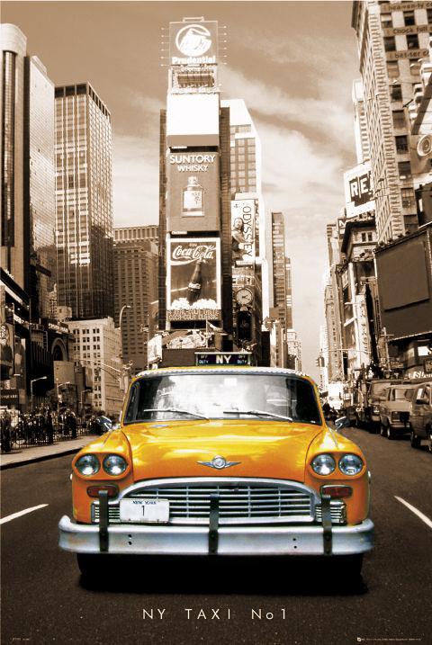 Posters Plakát, Obraz - New York Taxi no.1 - sepia, (61 x 91,5 cm)