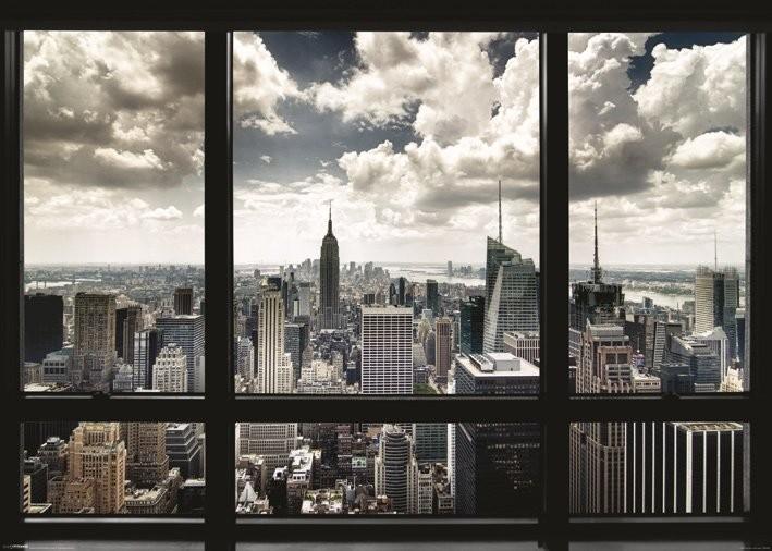 Posters Plakát, Obraz - New York - window, (140 x 100 cm)