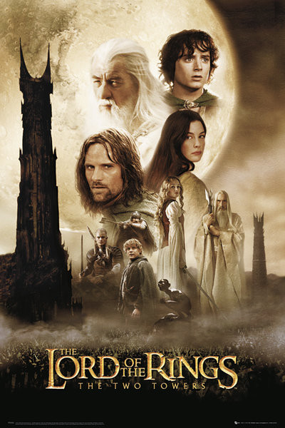 Posters Plakát, Obraz - LORD OF THE RINGS - two towers one sheet, (61 x 91,5 cm)