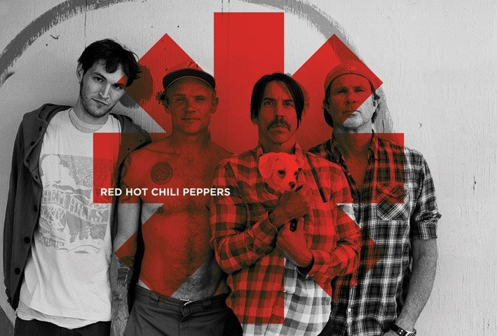 Posters Plakát, Obraz - Red hot chilli peppers - Red asterix, (91,5 x 61 cm)