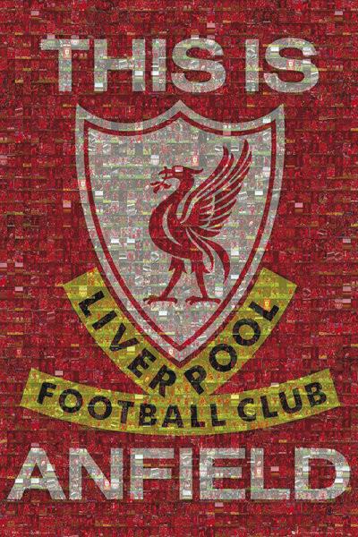 Posters Plakát, Obraz - Liverpool - mosaic, (61 x 91,5 cm)