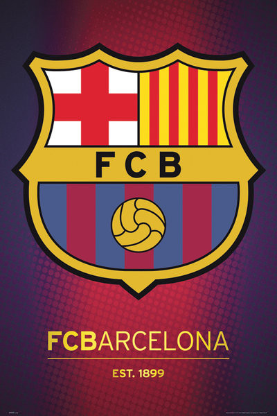 Posters Plakát, Obraz - Barcelona - club crest 2013, (61 x 91,5 cm)