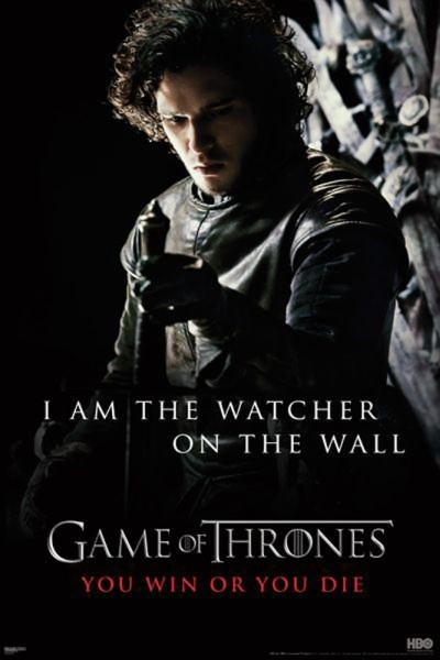 Posters Plakát, Obraz - GAME OF THRONES - I'm the watcher on the wall, (61 x 91,5 cm)