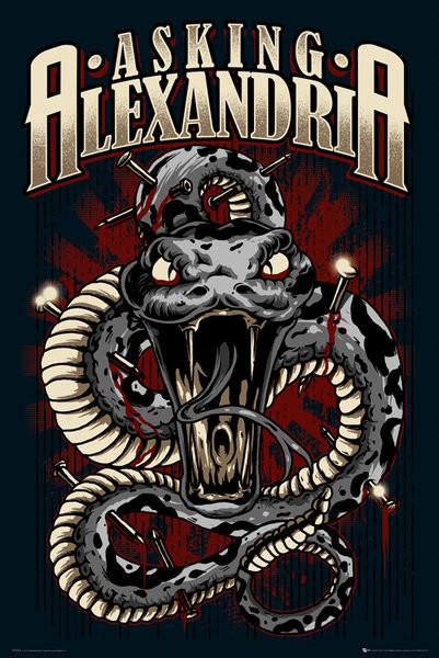 Posters Plakát, Obraz - Asking Alexandria - snake, (61 x 91,5 cm)