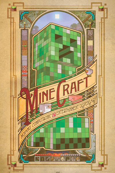 Posters Plakát, Obraz - Minecraft - computronic, (61 x 91,5 cm)