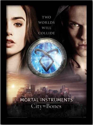 Posters MORTAL INSTRUMENTS : MĚSTO Z KOSTÍ – two worlds rám s plexisklem