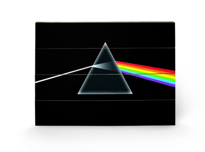 Posters Obraz na dřevě - PINK FLOYD - dark side of the moon, (59 x 40 cm)