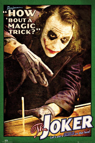 Posters Plakát, Obraz - BATMAN THE DARK KNIGHT - joker trick, (61 x 91,5 cm)