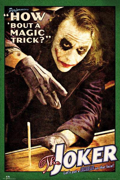 Posters Plakát, Obraz - BATMAN THE DARK KNIGHT - joker trick, (61 x 91,5 cm)
