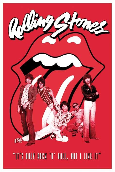 Posters Plakát, Obraz - Rolling Stones - it's only Rock n roll, (61 x 91,5 cm)