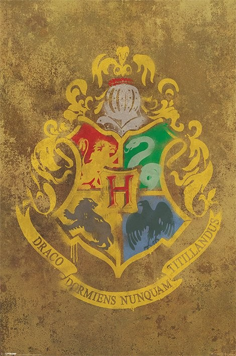 Posters Plakát, Obraz - HARRY POTTER - hogwarts crest, (61 x 91,5 cm)