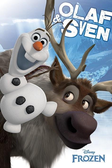 Posters Plakát, Obraz - Ledové království - Olaf and Sven, (61 x 91,5 cm)
