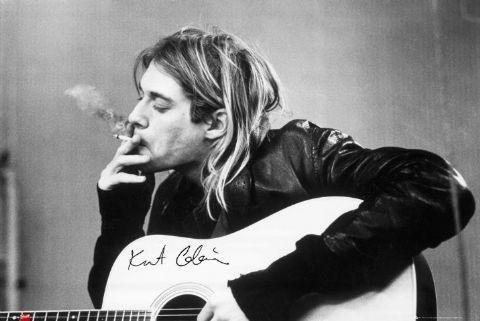Posters Plakát, Obraz - Kurt Cobain - smoking, (91 x 61 cm)