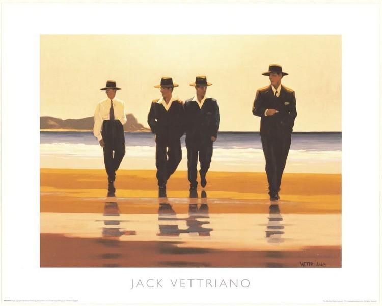 Posters Reprodukce Jack Vettriano - The Billy Boys – Billyho chlapci, 1994, (50 x 40 cm)