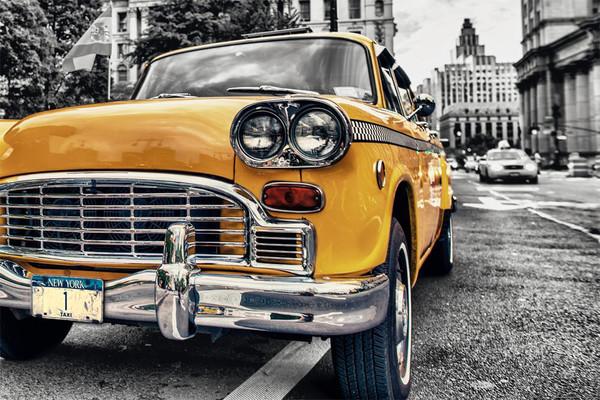 Posters Plakát, Obraz - New York - Taxi Yellow cab No.1, Manhattan, (91,5 x 61 cm)