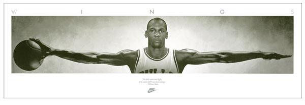 Posters Plakát, Obraz - Michael Jordan - Wings, basketball, (182,5 x 58,5 cm)