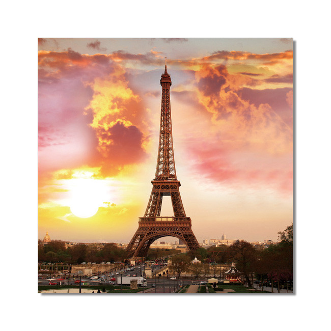 Posters Obraz Paříž - Eifelova věž, (120 x 120 cm)