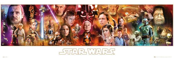 Posters Plakát, Obraz - STAR WARS - Complete Saga, (91,5 x 30,5 cm)
