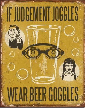 Posters Plechová cedule PIVO - If Judgement Joggles, (31,5 x 40 cm)