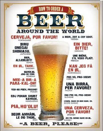 Posters Plechová cedule PIVO - Jak si objednat pivo, (31,5 x 40 cm)
