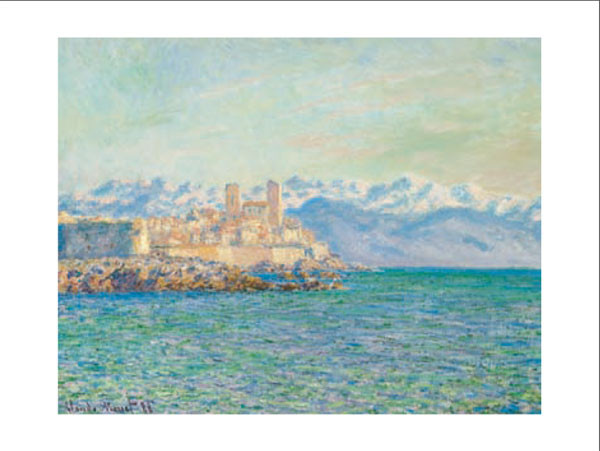 Posters Reprodukce Claude Monet - Stará pevnost v Antibes - The Old Fort at Antibes, (70 x 50 cm)
