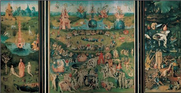 Posters Reprodukce Hieronymus Bosch - Zahrada pozemských rozkoší, 1503-04, (116 x 67 cm)