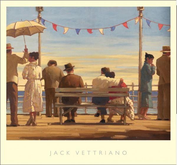 Posters Reprodukce Jack Vettriano - The Pier, (72 x 67 cm)