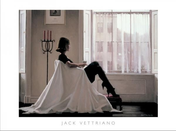 Posters Reprodukce Jack Vettriano - In Thoughts Of You - Retrospective Print Exhibition, 1996, (80 x 60 cm)