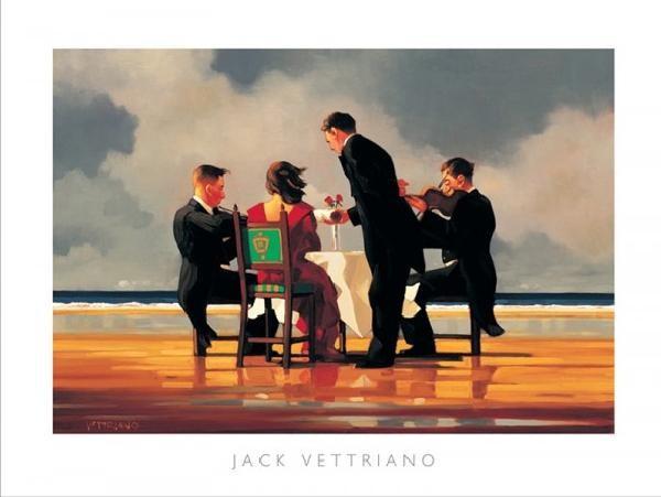 Posters Reprodukce Jack Vettriano - Elegy for a Dead Admiral - Elegie za mrtvého admirála, 1994, (50 x 40 cm)