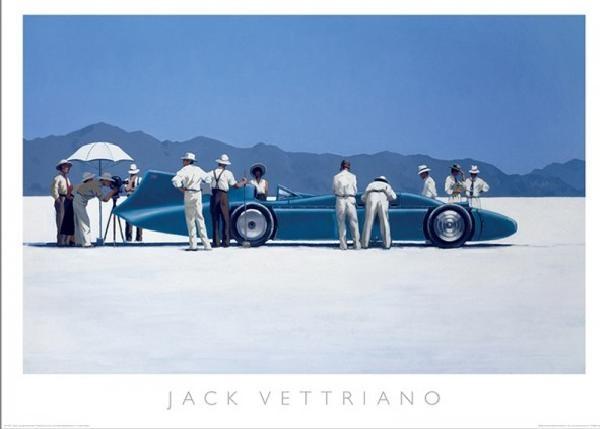 Posters Reprodukce Jack Vettriano - Bluebird at Bonneville, 1995, (70 x 50 cm)