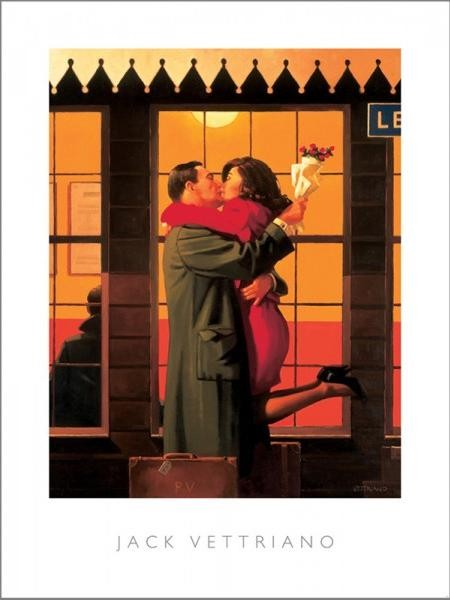 Posters Reprodukce Jack Vettriano - Back Where You Belong, 1996, (40 x 50 cm)