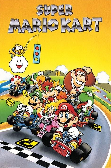 Posters Plakát, Obraz - Super Mario Kart - Retro, (61 x 91,5 cm)