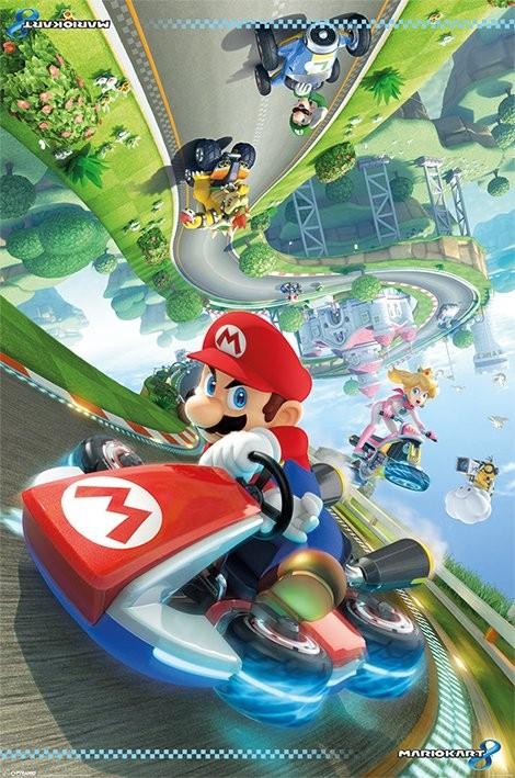 Posters Plakát, Obraz - Mario Kart 8 - Flip Poster, (61 x 91,5 cm)