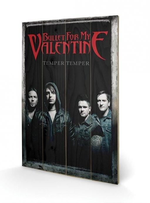 Posters Obraz na dřevě - Bullet For My Valentine - Group, (40 x 59 cm)