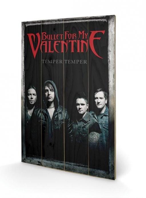 Posters Obraz na dřevě - Bullet For My Valentine - Group, (40 x 59 cm)
