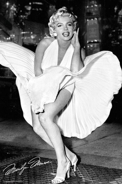 Posters Plakát, Obraz - Marilyn Monroe - New York Dress, (61 x 91,5 cm)