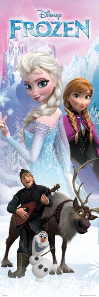 Posters Plakát, Obraz - Ledové království - Anna a Elsa, (53 x 158 cm)
