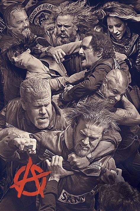 Posters Plakát, Obraz - Sons of Anarchy (Zákon gangu) - Fight, (61 x 91,5 cm)