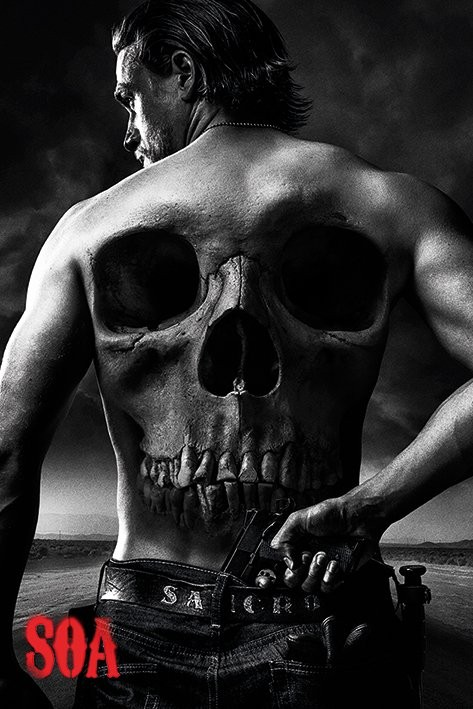 Posters Plakát, Obraz - Sons of Anarchy (Zákon gangu) - Jax Back, (61 x 91,5 cm)