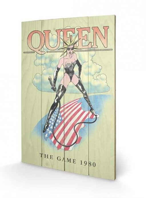 Posters Obraz na dřevě - Queen - The Game 1980, (40 x 59 cm)