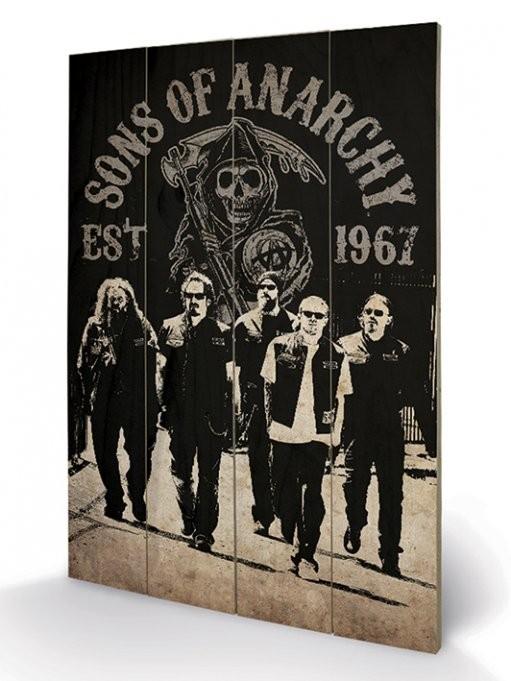 Posters Obraz na dřevě - Sons of Anarchy (Zákon gangu) - Reaper Crew, (40 x 59 cm)