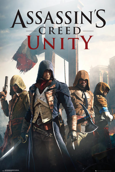Posters Plakát, Obraz - Assassin's Creed Unity - Cover, (61 x 91,5 cm)