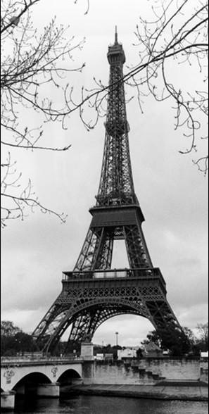 Posters Reprodukce MANUELA HOEFER - Paříž - Eiffelovka, Eiffelova věž, (50 x 100 cm)