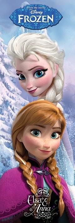 Posters Plakát, Obraz - Ledové království - Anna & Elsa, (53 x 158 cm)