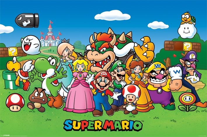 Posters Plakát, Obraz - Super Mario - Characters, (91,5 x 61 cm)