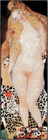 Posters Reprodukce Gustav Klimt - Adam a Eva, (40 x 120 cm)